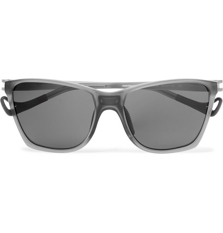 District Vision Keiichi D-frame Nylon And Titanium Polarised Sunglasses In Gray