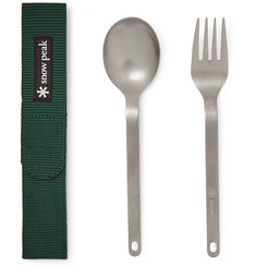 Snow Peak Titanium Fork and Spoon Cutlery Set