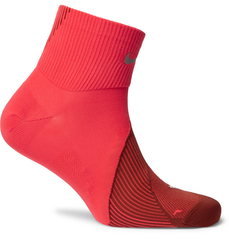 Spark Lightweight Quarter Stretch Knit Running Socks by Nike Running
