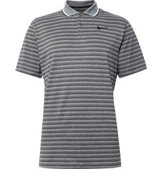 Nike Golf Vapor Contrast-Tipped Striped Dri-FIT Golf Polo Shirt