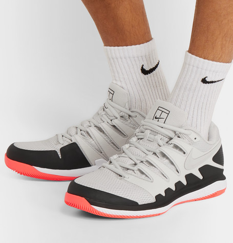 Nike Court Air Zoom Vapor X Tennis Shoe In Gray