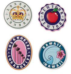 Globe-Trotter Pack of Four Leather Suitcase Stickers