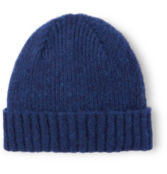Mr P. Ribbed Brushed-Wool Beanie