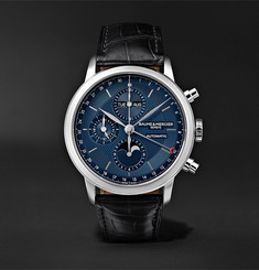 Baume & Mercier Classima Automatic Flyback Chronograph 42mm Stainless Steel and Alligator Watch