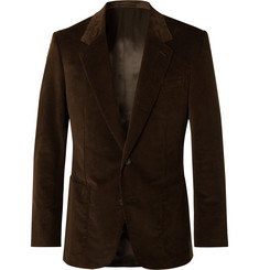 Kingsman Brown Slim-Fit Cotton-Blend Corduroy Suit Jacket