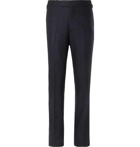 Kingsman Navy Wool-Flannel Trousers