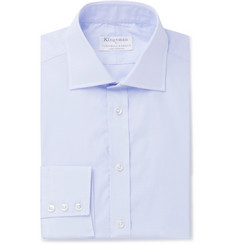 Kingsman + Turnbull & Asser Blue Prince Of Wales Checked Cotton Shirt