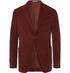 Boglioli Burgundy K-Jacket Unstructured Cotton-Blend Corduroy Suit Jacket