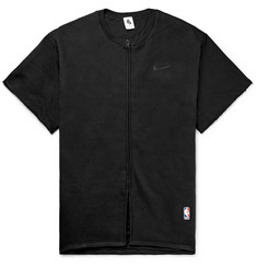 Nike + Fear of God Oversized Cotton-Blend Jersey Zip-Up T-Shirt