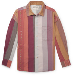 Remi Relief Striped Cotton and Wool-Blend Shirt