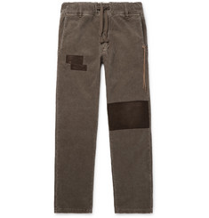 Remi Relief Patchwork Cotton-Blend Corduroy Trousers