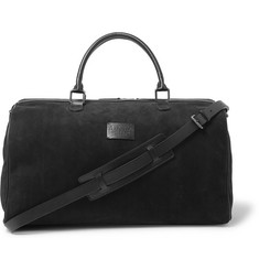 Anderson's - Boston Leather-Trimmed Suede Holdall