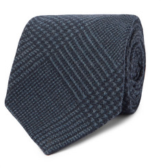 Kingsman + Drake's 8cm Prince of Wales Checked Wool Tie