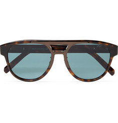 Berluti Aviator-Style Acetate Mirrored Sunglasses