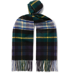 Johnstons of Elgin - Fringed Tartan Cashmere Scarf