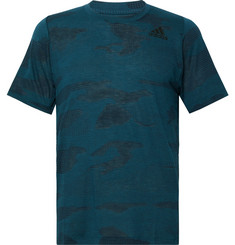 Adidas Sport FreeLift Burnout Camouflage-Print Climalite T-Shirt