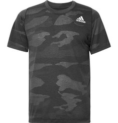 Adidas Sport FreeLift Camouflage-Print Climalite T-Shirt