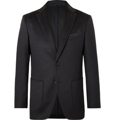 Altea Midnight-Blue Slim-Fit Cashmere Suit Jacket