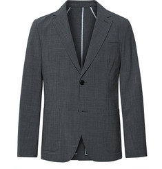 Club Monaco Grey Grant Slim-Fit Unstructured Puppytooth Woven Blazer