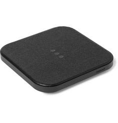 Courant Catch 1 Pebble-Grain Leather Wireless Charging Dock