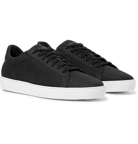 J.m. Weston Nubuck Sneakers In Black