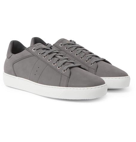 J.m. Weston Nubuck Sneakers In Gray