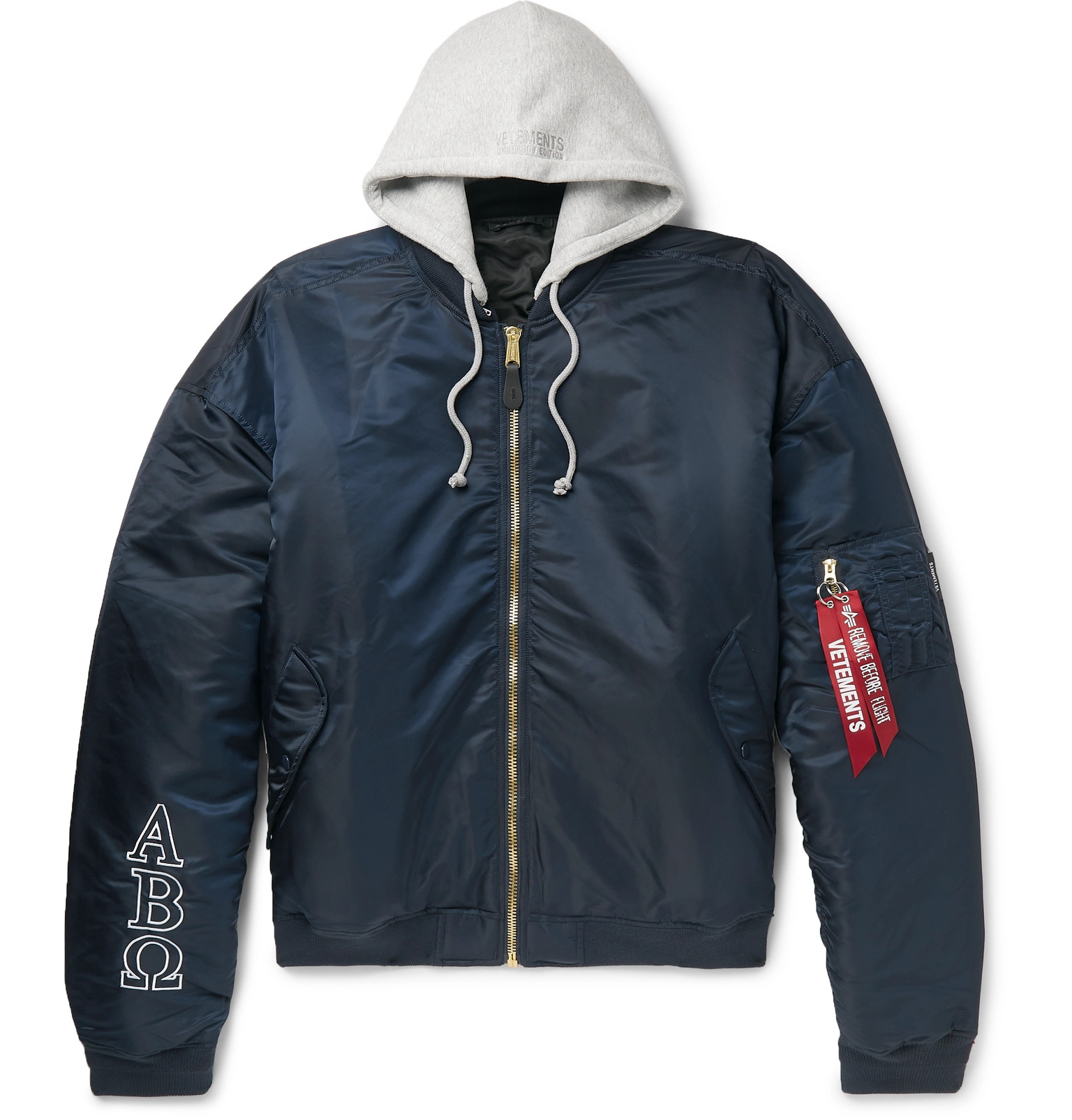 release date 3ef74 91f13 Vetements - + Alpha Industries Oversized Reversible ...
