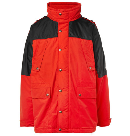 Vetements – Incognito Padded Cotton-blend Shell Parka – Red