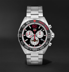 TAG Heuer - Formula 1 Indy 500 Chronograph 43mm Brushed and Polished-Steel Watch