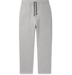 KAPITAL Printed Mélange Loopback Cotton-Jersey Sweatpants