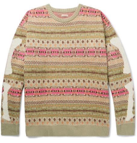 Fair Isle Wool Blend Jacquard Sweater by Kapital