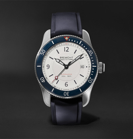 Bremont S300 Automatic Chronometer 40mm Stainless Steel and Rubber Watch, Ref. No. S300-WH-D