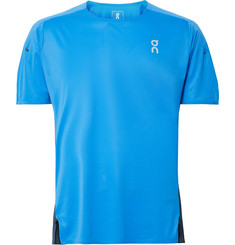 On - Colour-Block Stretch-Jersey and Mesh T-Shirt