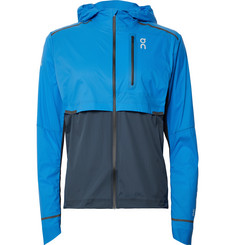 On - Weather Colour-Block Micro-Ripstop Hooded Jacket