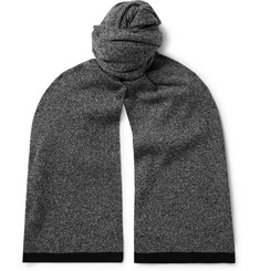 Theory Evers Contrast-Tipped Mélange Cashmere Scarf