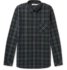 nonnative Dweller Button-Down Collar Checked Cotton-Flannel Shirt