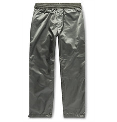 Flagstuff Bondage Slim-Fit Satin-Shell Trousers