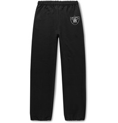 Flagstuff Printed Fleece-Back Cotton-Blend Jersey Sweatpants