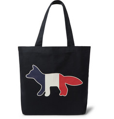 Maison Kitsuné Printed Canvas Tote Bag