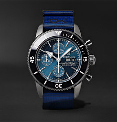 Breitling + Outerknown Superocean Heritage Chronometer 44mm DLC-Coated Stainless Steel and NATO Watch