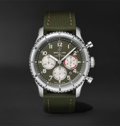 Breitling Aviator 8 B01 43 Curtiss Warhawk Automatic Chronograph 43mm Stainless Steel and Canvas Watch, Ref. N