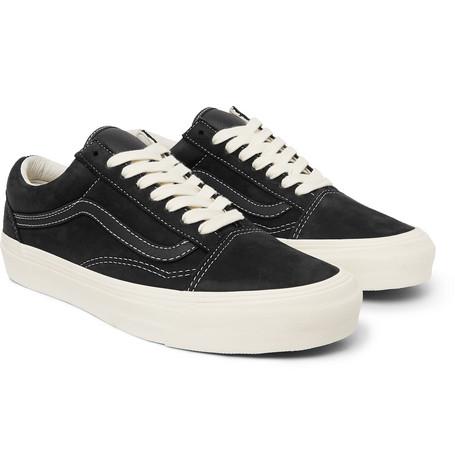 og-old-skool-lx-leather-trimmed-nubuck-sneakers by vans
