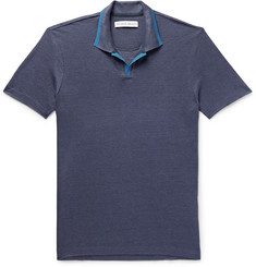 Orlebar Brown Felix Slim-Fit Contrast-Tipped Linen-Piqué Polo Shirt