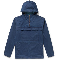Orlebar Brown Hawthorn Indigo-Dyed Denim Hooded Half-Zip Anorak