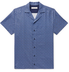 Orlebar Brown Travis Nerano Slim-Fit Camp-Collar Cotton and Linen-Blend Shirt