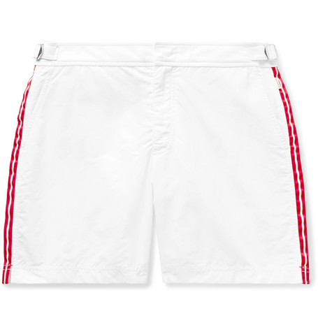 Orlebar Brown Bulldog Mid-Length Grosgrain-Trimmed Swim Shorts