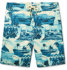 RRL - Long-Length Printed Swim Shorts