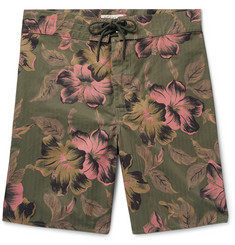RRL - Long-Length Printed Cotton-Blend Swim Shorts