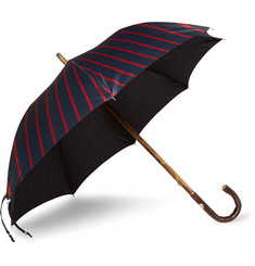 Francesco Maglia Striped Wood-Handle Umbrella