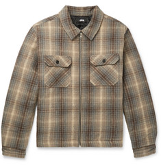 Stüssy Checked Brushed-Cotton Shirt Jacket